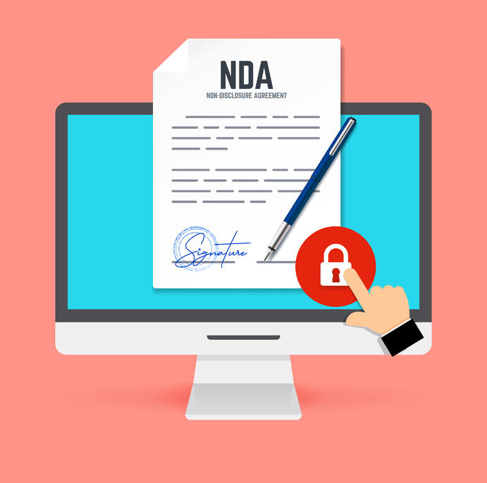 Illustration showing how technology can help to write a nondisclosure agreement