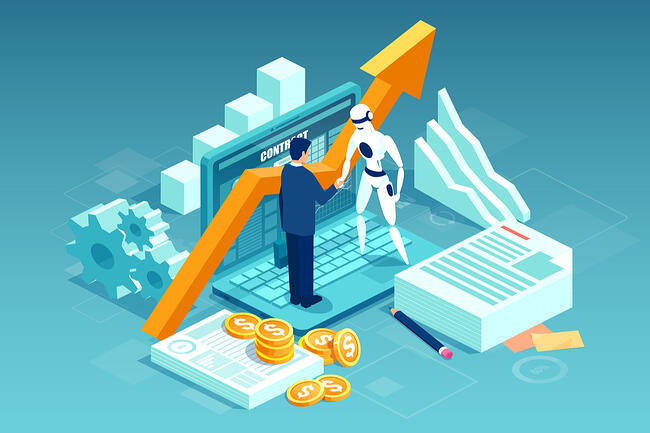 Illustration depicts sales contract automation