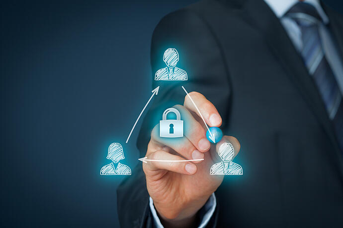 Illustration representing security concerns in a proprietary information agreement